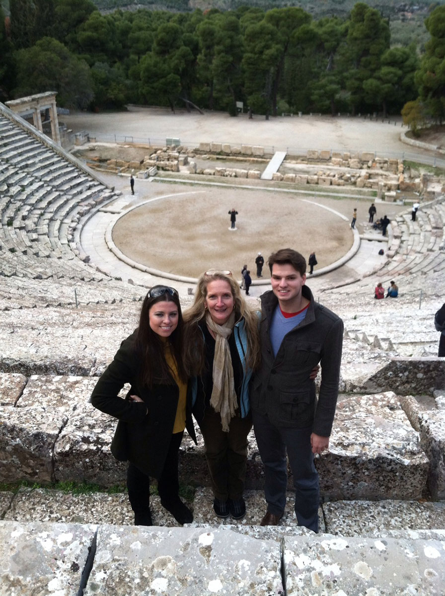 Students and faculty travel to, and study in, Greece