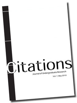 Citations 2010 - Journal of Undergraduate Research